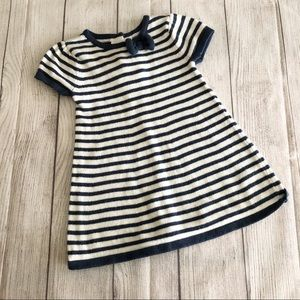 Gymboree navy/white striped sweater dress